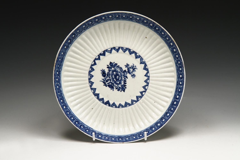 1054 - A Bow dessert dish c 1765-70