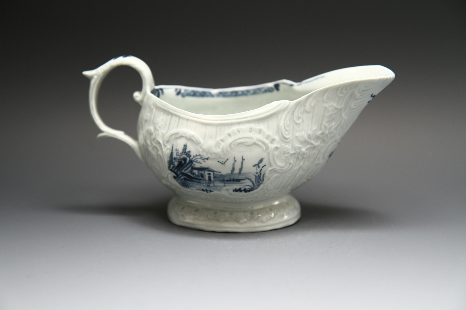 1096 - A James Pennington sauceboat c 1765-70