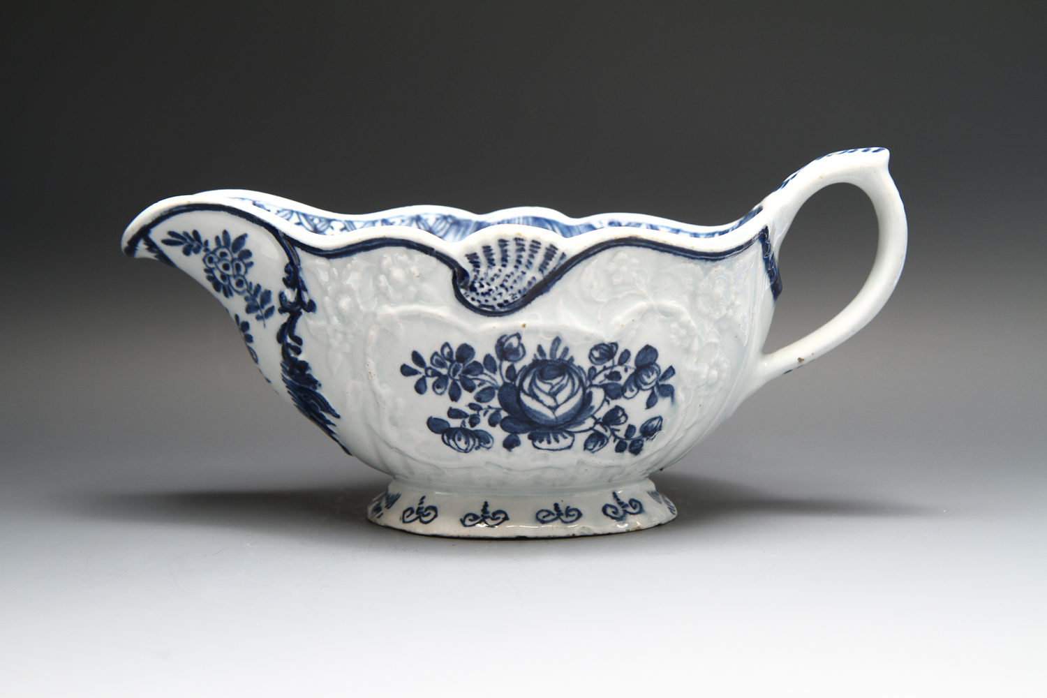 1120 - A Bow sauceboat c 1760-65
