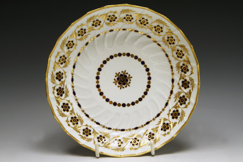 1026 - Worcester spirally fluted trio c 1785