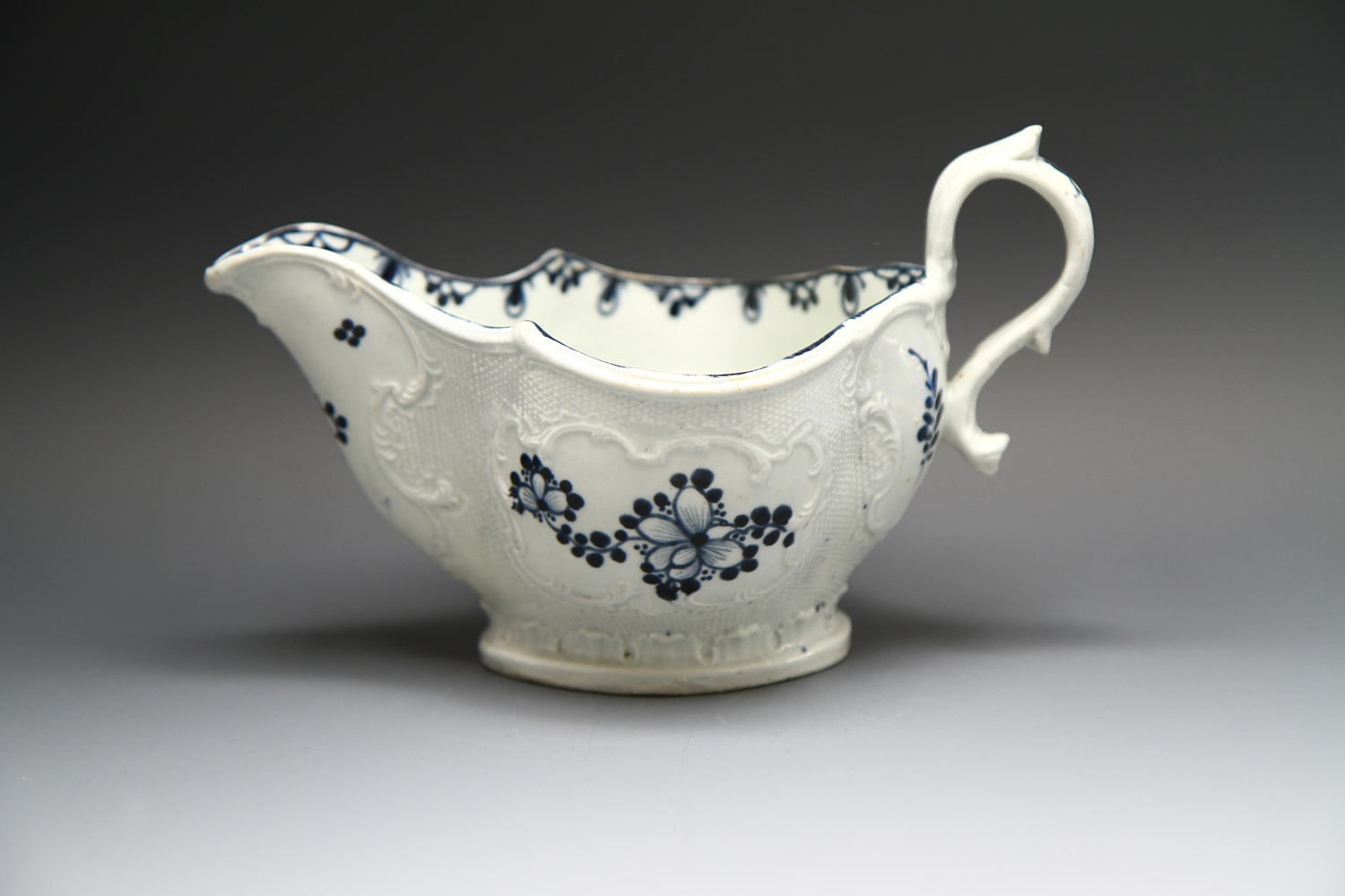 1103 - A good James Pennington sauceboat c 1765-8