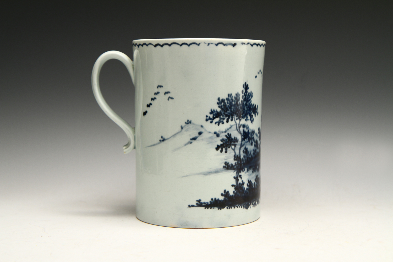 1028 - A good quality John Pennington mug, c 1774