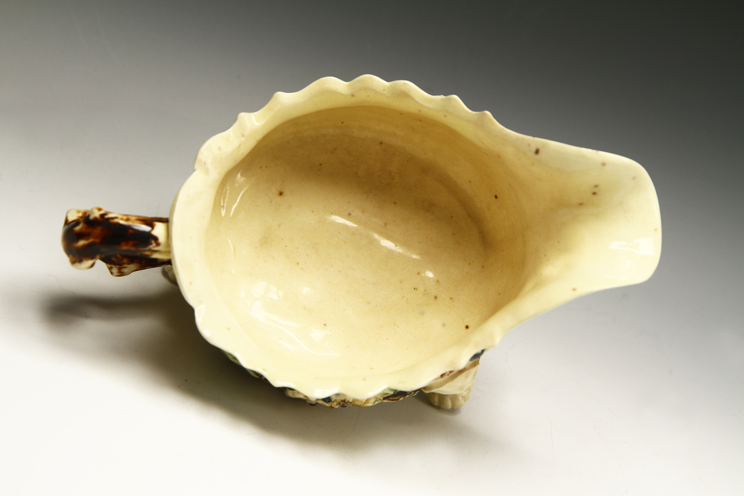 1013 - A fine early creamware sauceboat c 1745-55