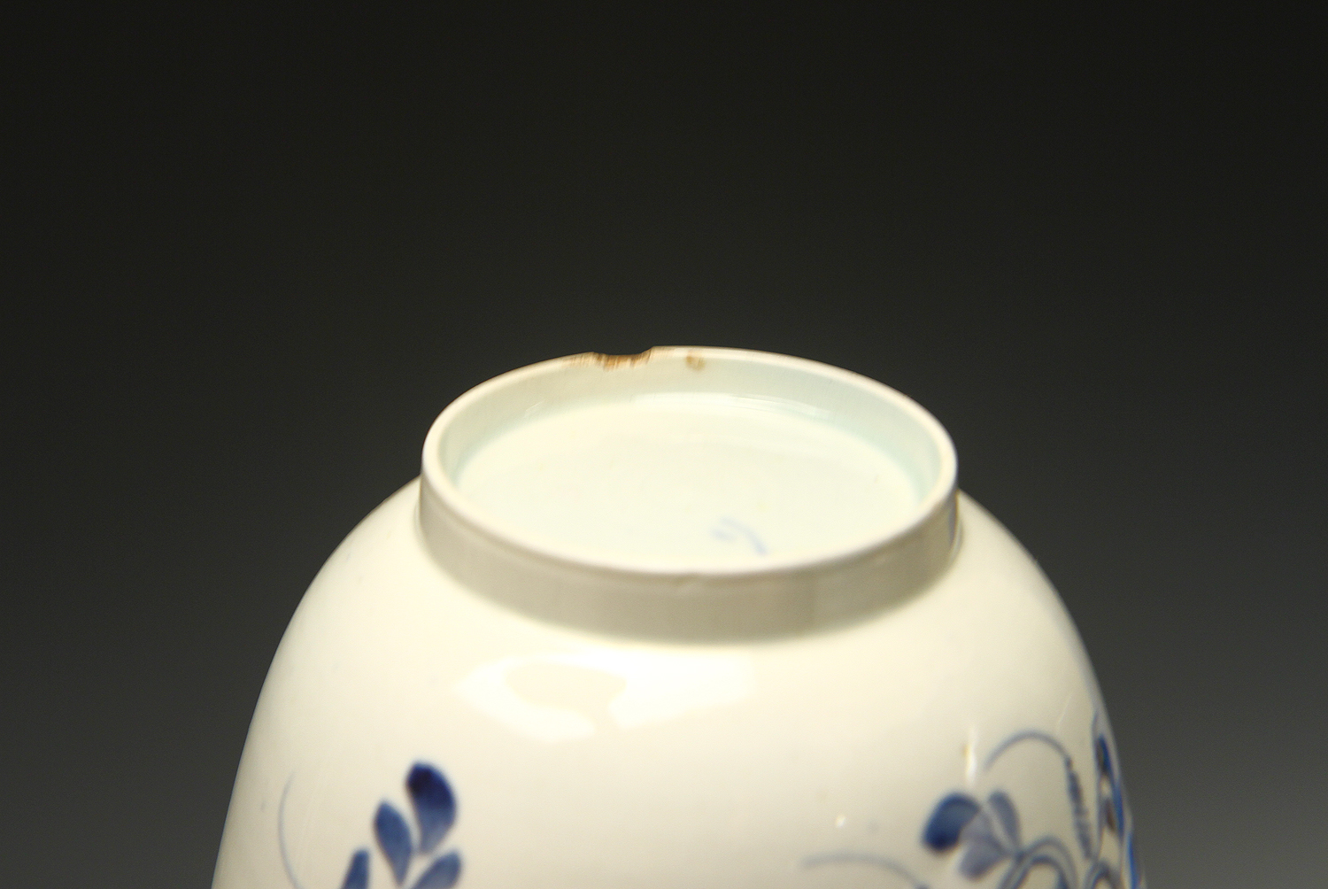 1024 - A pearlware teabowl and saucer c 1780